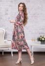 креповое платье с цветочным рисунком