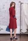 деловое платье с кружевом красное