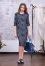 офисное платье из тонкой шерсти пейсли