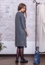 миди платье серое шерсть кружево