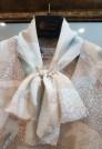 нарядная блузка натуральный шелк с бантом
