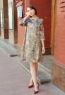 платье миди натуральный шелк
