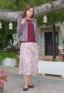 сиреневый пиджак из бархата женский