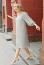 легкое шелковое платье миди