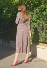 женственное платье на осень шерсть