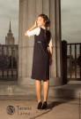 Черное платье сарафан для офиса