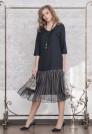платье из 100 шерсти с воланом