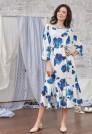 летнее шелковое платье с цветами