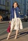 летняя юбка в складку