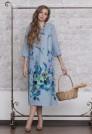 голубое нарядное платье из шерсти
