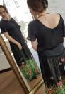 юбка макси из шелка