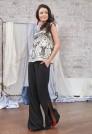 льняные брюки клеш женские