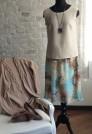 шифоновая юбка миди шелк