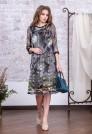 шифоновое платье с цветочным рисунком