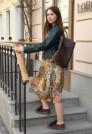 юбка из шифона натуральный шелк