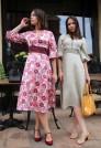 Шёлковое платье с цветами