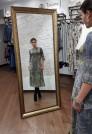 Серое платье миди нарядное шерстяное