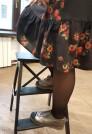 платье миди с воланом черное