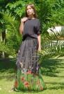 черная шелковая юбка в пол