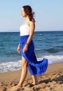 синяя летняя юбка макси