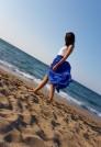 легкая летняя юбка с разрезом